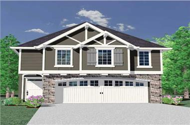 4-Bedroom, 1677 Sq Ft Craftsman House Plan - 149-1775 - Front Exterior