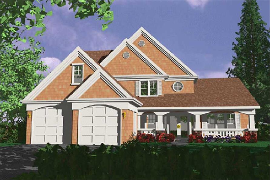 4-Bedroom, 2321 Sq Ft Country Home Plan - 149-1777 - Main Exterior