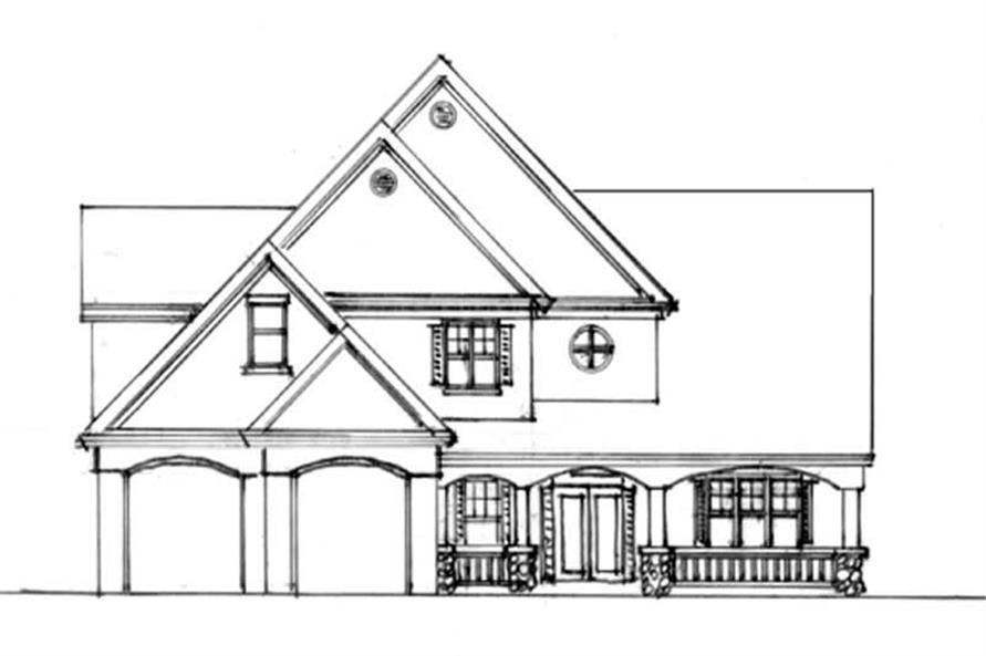 Home Exterior Photograph of this 4-Bedroom,2321 Sq Ft Plan -149-1777