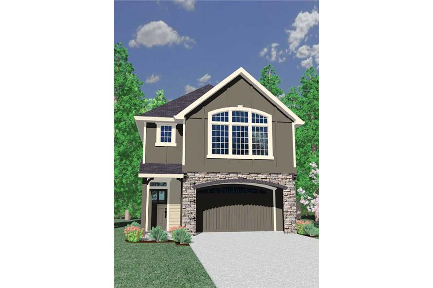 4-Bedroom, 1725 Sq Ft Craftsman House Plan - 149-1778 - Front Exterior