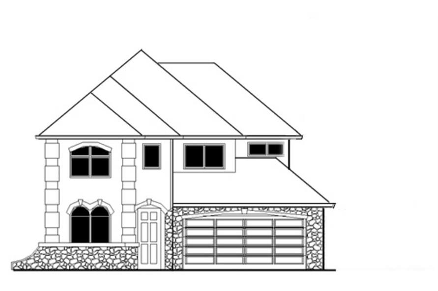 4-Bedroom, 2319 Sq Ft French Home Plan - 149-1780 - Main Exterior