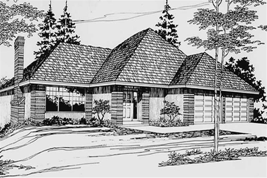 3-Bedroom, 1418 Sq Ft Small House Plans - 149-1785 - Front Exterior