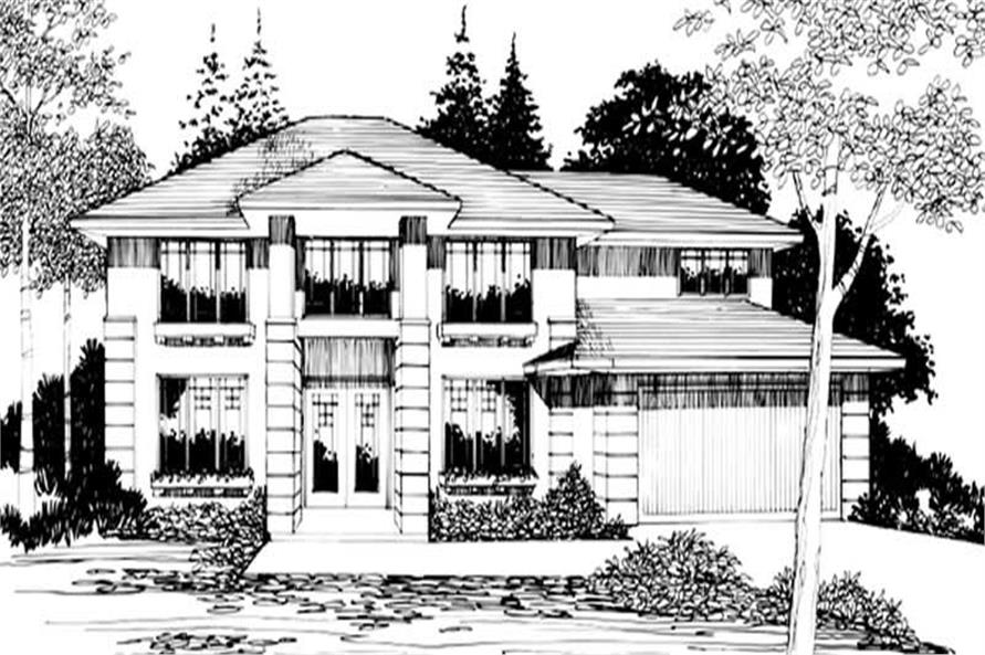 3-Bedroom, 2466 Sq Ft Contemporary House Plan - 149-1787 - Front Exterior