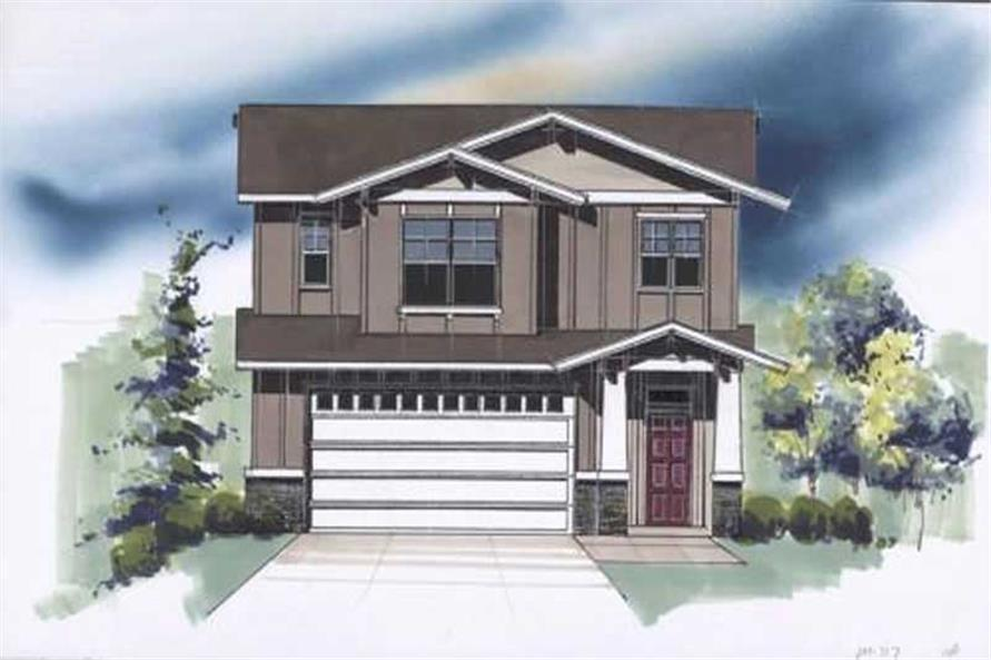 1-Bedroom, 717 Sq Ft Craftsman Home Plan - 149-1796 - Main Exterior