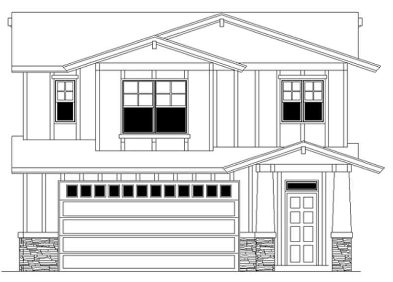 Prairie feng shui garage house plans home design m 717 for Garage feng shui