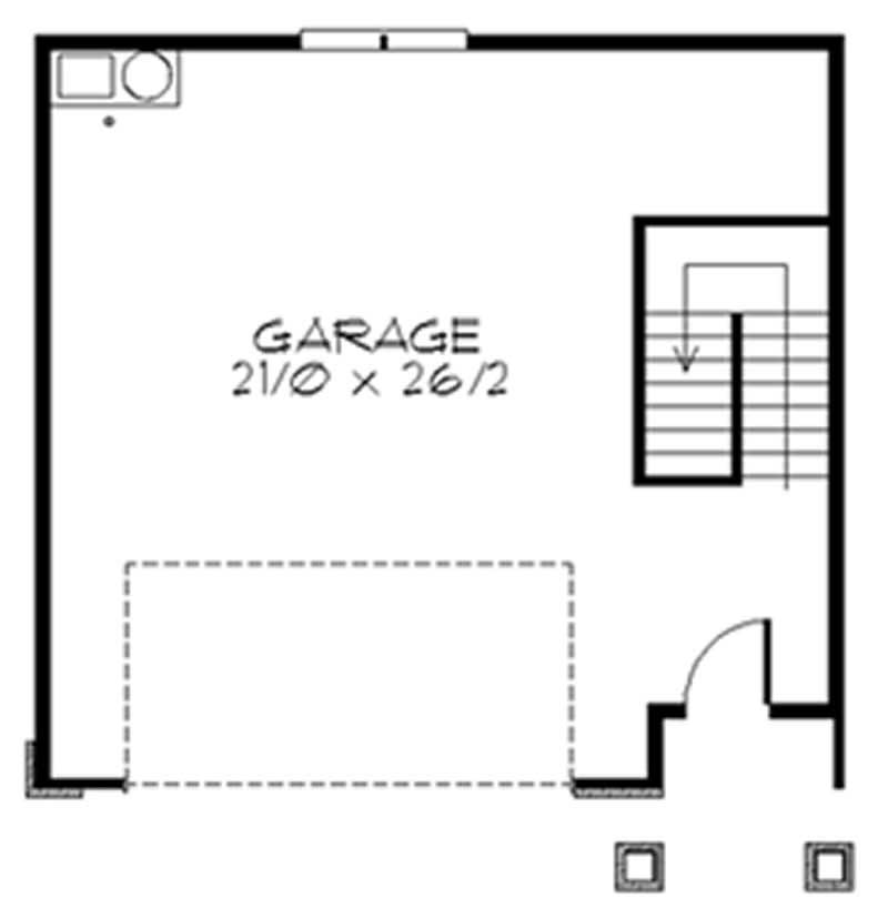 Prairie feng shui garage house plans home design m 717 for Feng shui garage