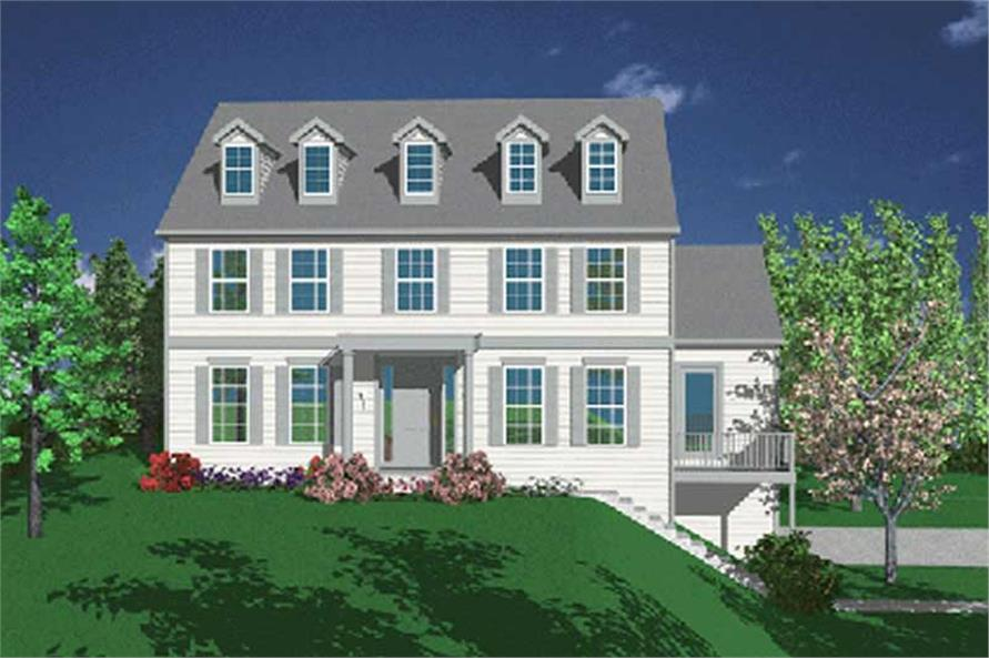 4-Bedroom, 2466 Sq Ft Georgian House Plan - 149-1799 - Front Exterior