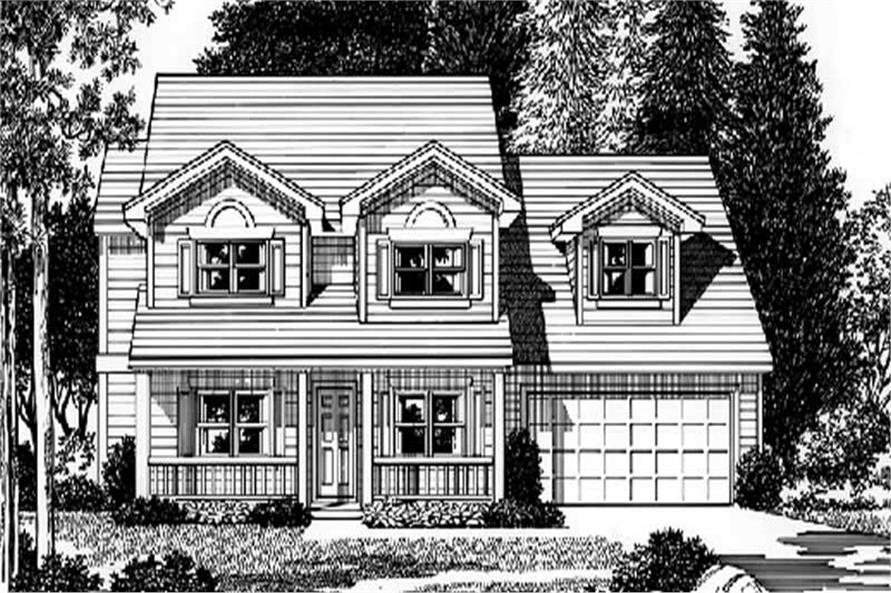 4-Bedroom, 2398 Sq Ft Country Home Plan - 149-1800 - Main Exterior
