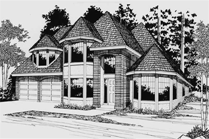 4-Bedroom, 2411 Sq Ft European Home Plan - 149-1802 - Main Exterior