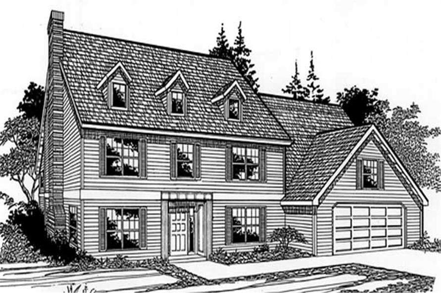 4-Bedroom, 2458 Sq Ft Country House Plan - 149-1807 - Front Exterior