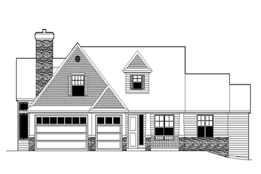 3-Bedroom, 2481 Sq Ft Country House Plan - 149-1812 - Front Exterior