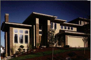 4-Bedroom, 2478 Sq Ft Modern House Plan - 149-1813 - Front Exterior