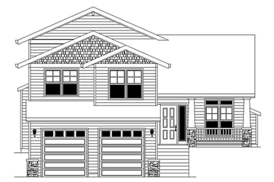 Home Plan Rendering of this 4-Bedroom,2421 Sq Ft Plan -149-1816