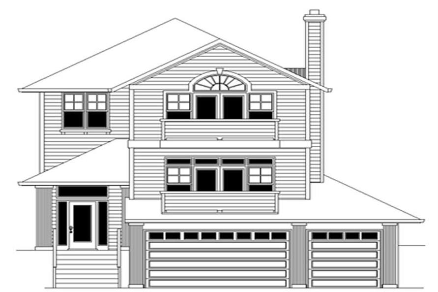 4-Bedroom, 2481 Sq Ft Multi-Level House Plan - 149-1817 - Front Exterior