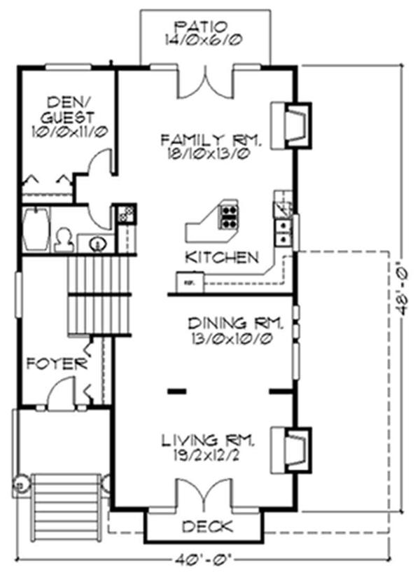 Multi level house plans home design m 2481a 2561 for Multi level floor plans
