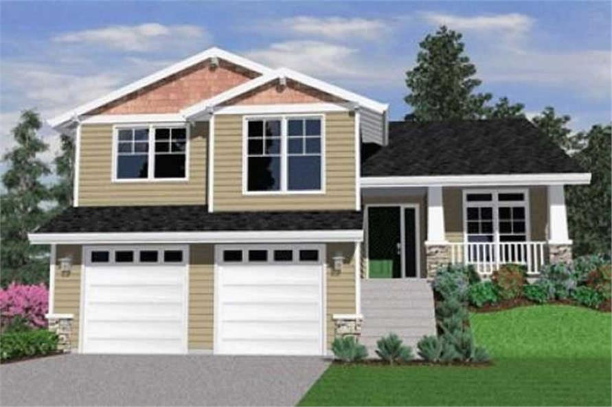 4-Bedroom, 2421 Sq Ft Craftsman Home Plan - 149-1818 - Main Exterior