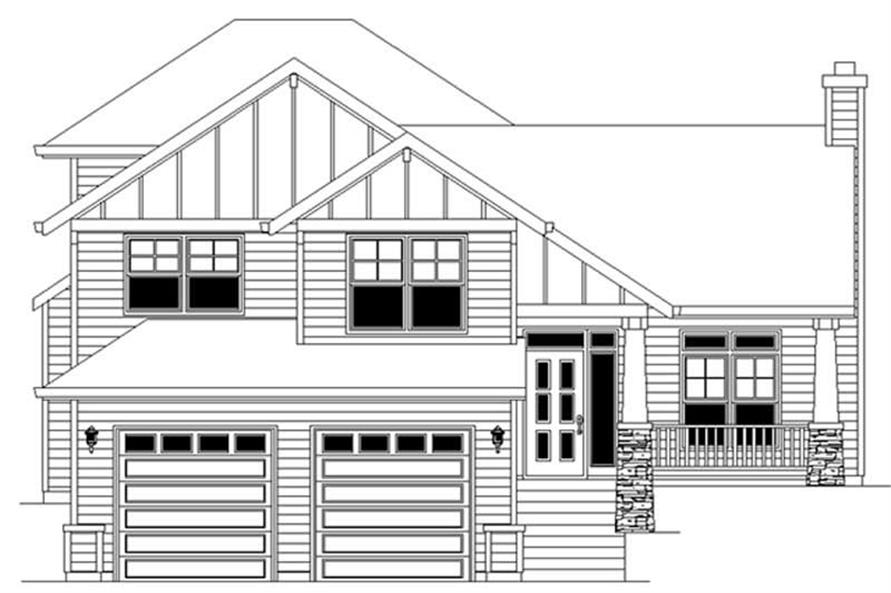 Home Plan Rendering of this 4-Bedroom,2421 Sq Ft Plan -149-1818