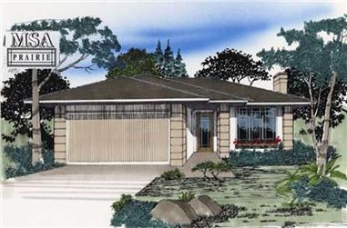3-Bedroom, 1092 Sq Ft Contemporary Home Plan - 149-1821 - Main Exterior
