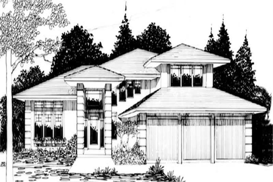 3-Bedroom, 2455 Sq Ft Modern Home Plan - 149-1822 - Main Exterior