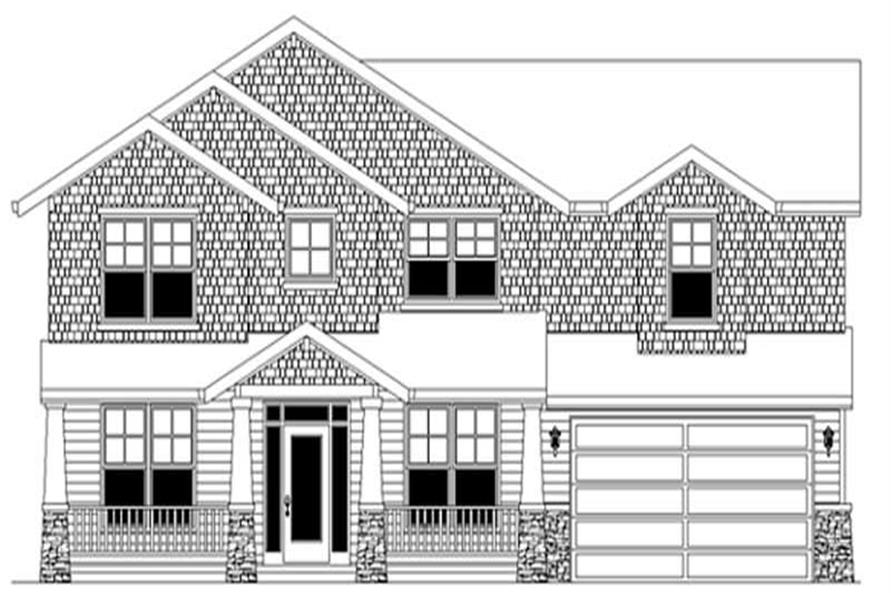 4-Bedroom, 3004 Sq Ft Transitional Home Plan - 149-1825 - Main Exterior