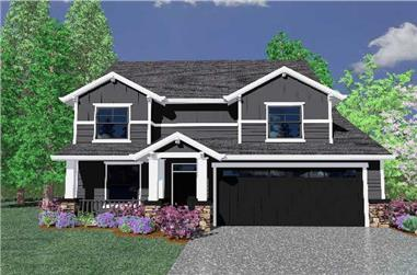 4-Bedroom, 2050 Sq Ft Country House Plan - 149-1828 - Front Exterior
