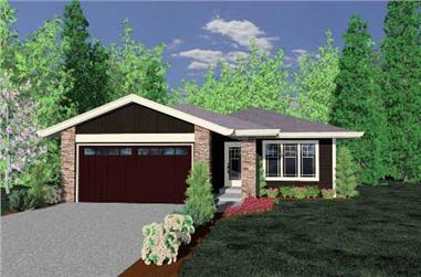 3-Bedroom, 1294 Sq Ft Ranch Home Plan - 149-1829 - Main Exterior