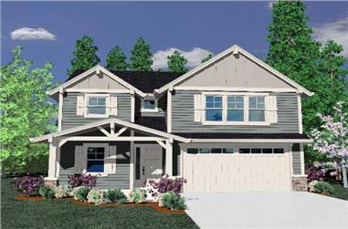 4-Bedroom, 2199 Sq Ft Craftsman House Plan - 149-1831 - Front Exterior