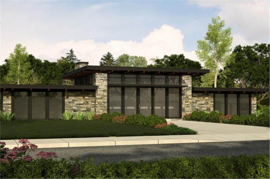 Modern Home Plan 2 Bedrms 2 Baths 1439 Sq Ft 149 1837
