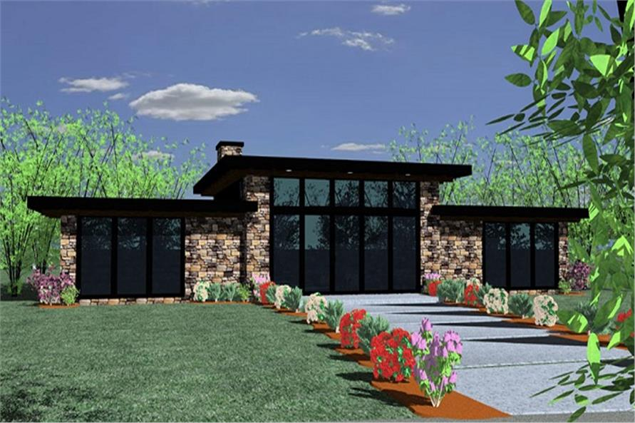 Small Modern Home Plan - 2 Bedrms, 2 Baths - 1439 Sq Ft ...