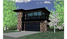 149-1838 apartment garage front rendering