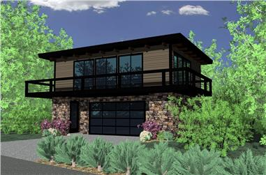 2-Bedroom, 1159 Sq Ft Modern House Plan - 149-1839 - Front Exterior