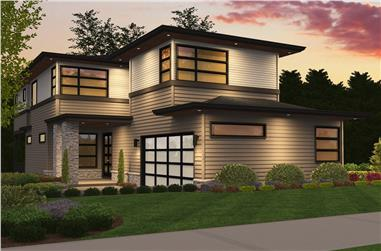 5-Bedroom, 4140 Sq Ft Contemporary Home Plan - 149-1840 - Main Exterior