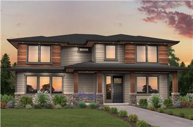 4-Bedroom, 2909 Sq Ft Contemporary House Plan - 149-1845 - Front Exterior
