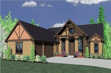 4-Bedroom, 3083 Sq Ft Lodge House Plan - 149-1847 - Rear Exterior