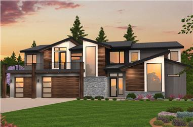 5-Bedroom, 3738 Sq Ft Contemporary Home Plan - 149-1852 - Main Exterior