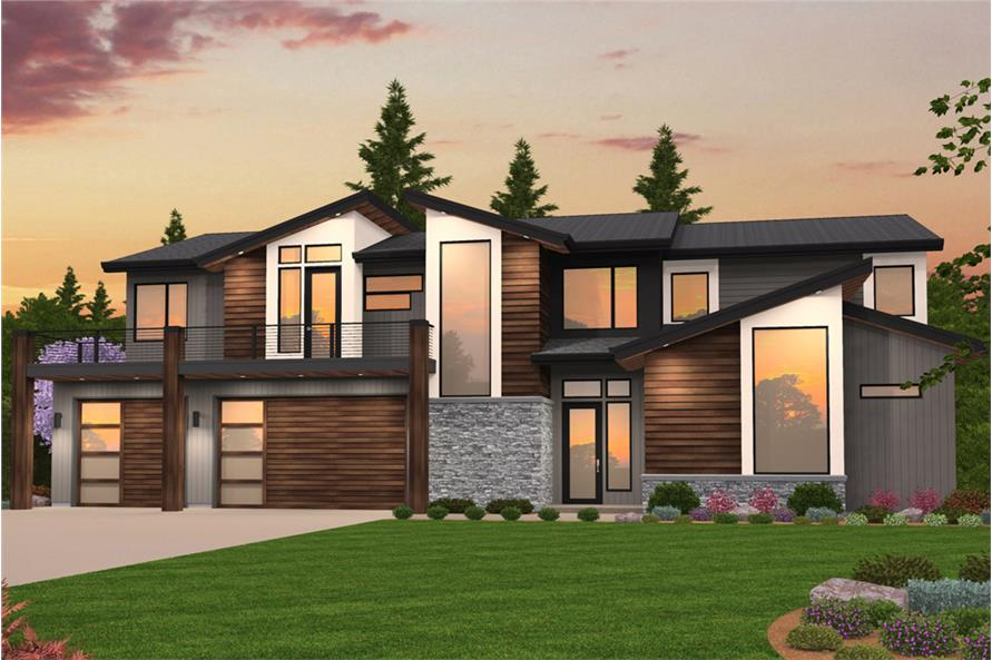 . Contemporary House Plan   5 Bedrms  4 Baths   3738 Sq Ft    149 1852