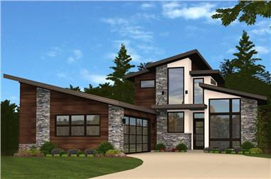 4-Bedroom, 4172 Sq Ft Contemporary Home Plan - 149-1853 - Main Exterior