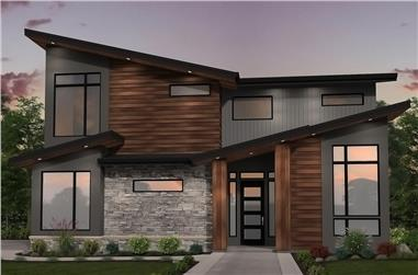 3-Bedroom, 2713 Sq Ft Contemporary Home Plan - 149-1854 - Main Exterior