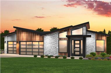 4-Bedroom, 3085 Sq Ft Contemporary House Plan - 149-1857 - Front Exterior
