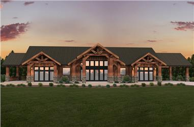 3-Bedroom, 4130 Sq Ft Prairie House Plan - 149-1860 - Front Exterior