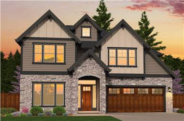 3-Bedroom, 2720 Sq Ft Traditional House Plan - 149-1862 - Front Exterior