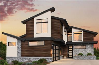4-Bedroom, 4274 Sq Ft Contemporary House Plan - 149-1866 - Front Exterior