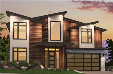 5-Bedroom, 3974 Sq Ft Contemporary Home Plan - 149-1867 - Main Exterior