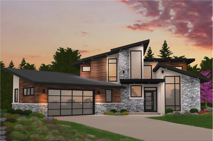 Home Plan Rendering of this 4-Bedroom,2673 Sq Ft Plan -149-1869