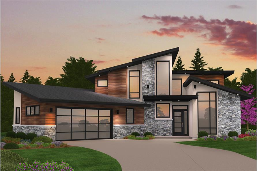 Modern House Plan - 4 Bedrms, 3 Baths - 2673 Sq Ft - #149-1869
