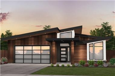 4-Bedroom, 2152 Sq Ft Modern House Plan - 149-1871 - Front Exterior