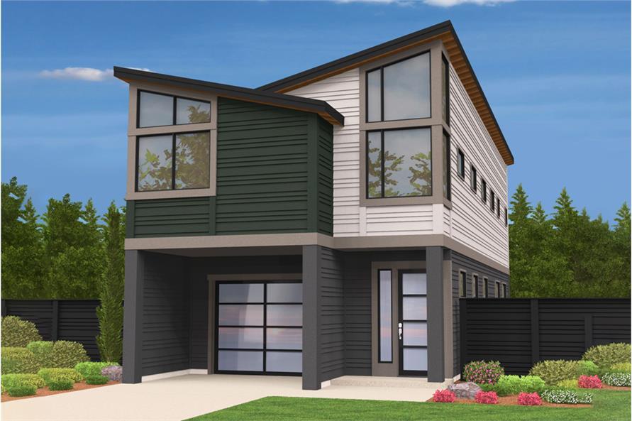Modern House Plan 3 Bedrms 2 5 Baths 1893 Sq Ft 149 1877