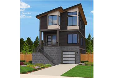 3-Bedroom, 2790 Sq Ft Modern House Plan - 149-1882 - Front Exterior