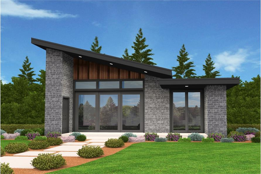 Modern Home Plan - 2 Bedrms, 1 Baths - 640 Sq Ft - #149-1883