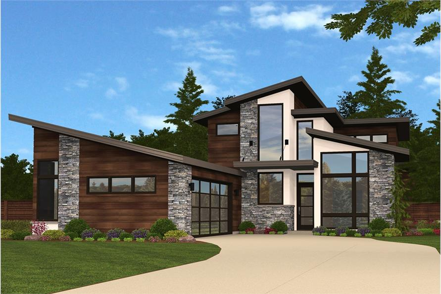Modern Floor Plan - 3 Bedrms, 2.5 Baths - 2434 Sq Ft ...